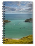Lulworth Cove Evening Spiral Notebook