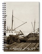 Lumber Steamers Unloading At Redwood Mfg. Co.s Wharf Pittsburg Circa 1920 Spiral Notebook