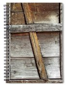 Lumber Work On The Side Of Old Cabin Spiral Notebook