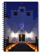 Luminarias At St Francis De Paula Spiral Notebook