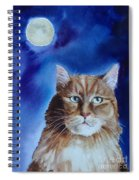 Lunar Cat Spiral Notebook