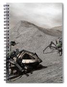 Lunar Vehicle In Distress Spiral Notebook