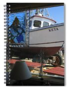 Lunch At Griffs On The Coast Spiral Notebook