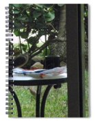 Lunch Guests Al Fresco Spiral Notebook