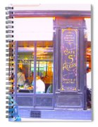 Lunch Time At The Cafe St Regis In Paris Spiral Notebook