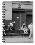 Lunch Time In Black And White Spiral Notebook