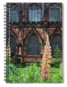 Lupines At Chester Cathedral 6805 Spiral Notebook