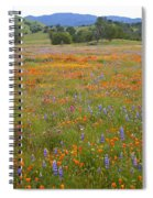 Luscious Spring Wildflowers Spiral Notebook