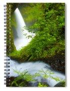 Lush Gorge Falls Spiral Notebook