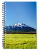 Lush Green Meadow And Mount Bachelor Spiral Notebook