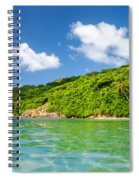 Lush Tropical Coast Spiral Notebook