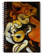 Lute Players Spiral Notebook