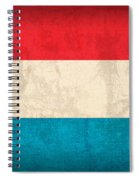 Luxembourg Flag Vintage Distressed Finish Spiral Notebook
