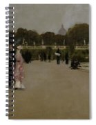 Luxembourg Gardens At Twilight Spiral Notebook