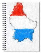 Luxembourg Painted Flag Map Spiral Notebook