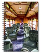 Luxury Lounge Car Of Early Railroading Spiral Notebook