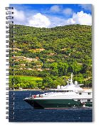 Luxury Yacht At The Coast Of French Riviera Spiral Notebook