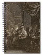Lycaon Metamorphosed Into A Wolf, 1731 Spiral Notebook