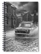 Lye Rain Storm, Morris Mini Car - 1960's    Ref-246 Spiral Notebook