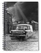 Lye Storm, Ford Anglia Van - 1960's    Ref-245 Spiral Notebook