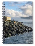 Lyme Regis - View Towards Charmouth Spiral Notebook