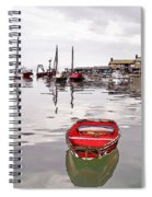 Lyme Regis Harbour Abstract Spiral Notebook