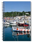 Lyme Regis Harbour On A July Morning Spiral Notebook