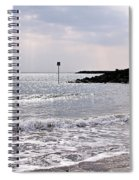 Lyme Regis Seascape - March Spiral Notebook