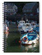 Lynmouth Harbour Devon Spiral Notebook