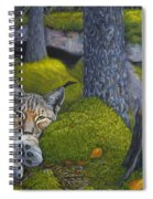 Lynx In The Sun Spiral Notebook