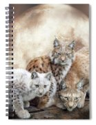 Lynx Moon Spiral Notebook