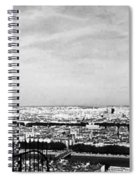 Lyon From The Basilique De Fourviere-bw Spiral Notebook