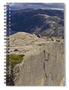 Lysefjord With Prekestolen Spiral Notebook