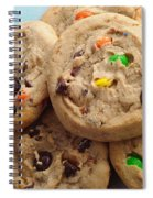 M And M - Chocolate Chip - Cookies - Bakery Shop Spiral Notebook