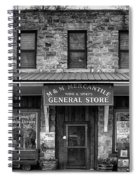 M And M Mercantile Bw Spiral Notebook
