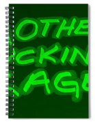 M F R Green Spiral Notebook