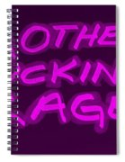 M F R Purple Spiral Notebook
