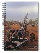 M102 105mm Light Towed Howitzer  2 9th Arty At Lz Oasis R Vietnam 1969 Spiral Notebook