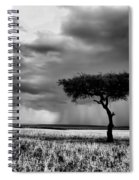 Maasai Mara In Black And White Spiral Notebook