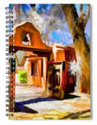 Mabel's Gate As Oil Painting Spiral Notebook