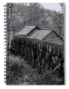 Mabry Mill Water Shute In Black And White Spiral Notebook