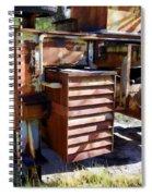 Micabrite Plant Rusty Gold Spiral Notebook