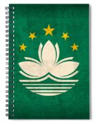 Macau Flag Vintage Distressed Finish Spiral Notebook