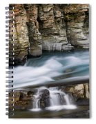 Macdonald Creek Falls Glacier National Park Spiral Notebook