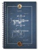 Machine Gun - Automatic Cannon By C.e. Barnes - Vintage Patent Blueprint Spiral Notebook