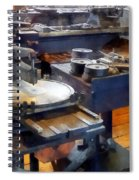 Machine Shop With Punch Press Spiral Notebook