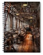 Machinist - A Fully Functioning Machine Shop  Spiral Notebook