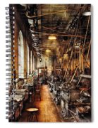 Machinist - Machine Shop Circa 1900's Spiral Notebook