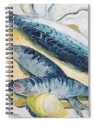 Mackerel With Oysters And Lemons, 1993 Oil On Paper Spiral Notebook