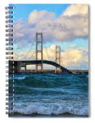 Mackinac Among The Waves Spiral Notebook